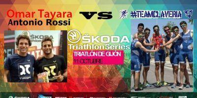 Omar Tayara y Antonio Rossi retan al TEAMCLAVERIA en Škoda Triathlon Gijón