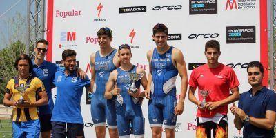 Podios y buenas carreras del TeamClavería en el Triatlón de Pedrezuela