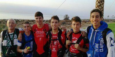 Fin de temporada del TeamClaveria en el GP Cofidís de Triatlón y por Clubes de Mar de Pulpi