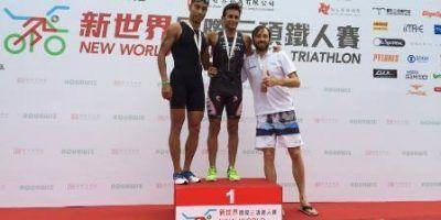 Omar Tayara gana el Triatlon de Hong Kong.