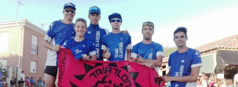 Test-52: Podios de l@s triatletas del Proyecto en el triatlón de Lantadilla. TeamClaveria Files 08/18