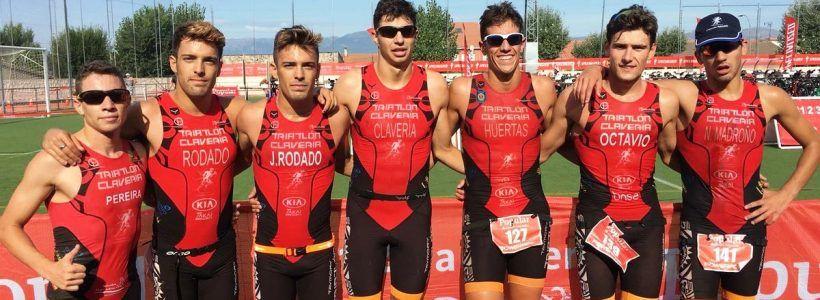 El TriClavería masculino, con 6 triatletasdelTeamClaveria,gana el Campeonato de Triatlón x Clubes de Madrid en Pedrezuela