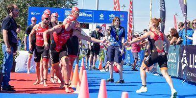 4 triatletas del TeamClavería participan en Cto Europa Triatlón por Clubes Relevos Mixtos ETULisboa
