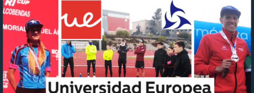 El Team Clavería compite, Alba Álvarez y David Huertas subcampeones de Madrid y Aragón de Duatlón y entrena en la Universidad Europea (04/03 al 10/03 /2019)