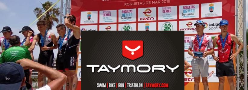 El Team Clavería en el Cto España de Triatlón Sprint y Acuatlón Roquetas.