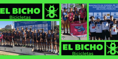 Fin de temporada del Team Clavería en Cto España Triatlón Súper Sprint/Clubes y Relevos/Parejas Sevilla
