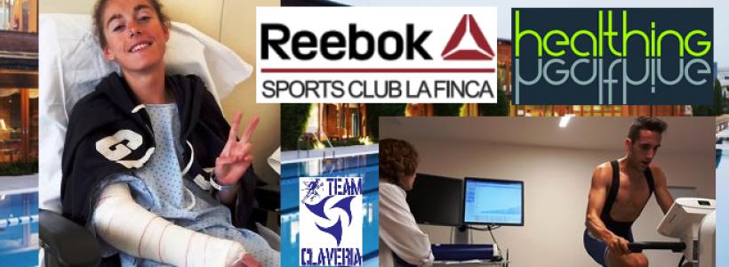 Paula Herrero se recupera mientras el Team Clavería pasa pruebas de lactato en el Healthing Reebok Sports Club