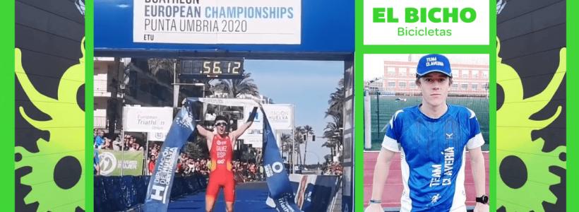 Test-84. Nacho Gálvez, Campeón de Europa de Duatlón Junior en Punta Umbría. TeamClaveria Files 03/2020